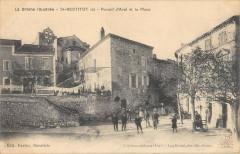 Saint Restitut Portail D'Aval Et La Place - Saint-Restitut