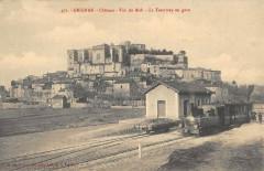Grignan Le Tramway En Gare - Grignan