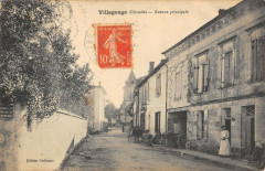 Villegouge Avenue Principale (cliché pas courant - Villegouge