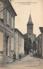 Villeneuve De Marsan La Poste Et Eglise - Villeneuve-de-Marsan