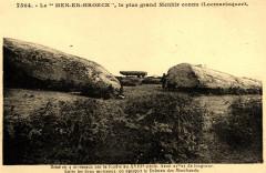 Grand menhir brisé Locmariaquer Emile Hamonic 56 Locmariaquer