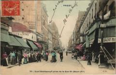 Paris 11e - Rue Oberkampf prise de la Rue St-Maur - Paris 11e