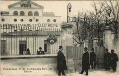 Paris 15e - Ecole Bréguet - L'Entrée - Paris 15e