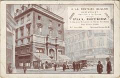 Paris 2e - A la Fontaine Gaillon - Paris 2e