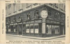 Paris 2e - Restaurants Italiens Franco-Americans Poccardi - Paris 2e