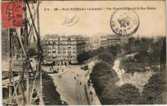 Buttes Chaumont - Vue Panoramique de la Rue Manin - Paris 19e