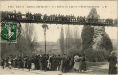 Buttes-Chaumont - Les Bords du Lac et le Pont suspendu - Paris 19e