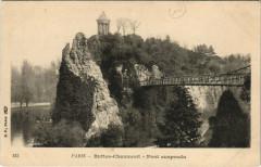 Buttes-Chaumont - Pont suspendu - Paris 19e