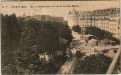 Buttes Chaumont et vue de la rue Manin - Paris 19e