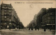 Avenue du Maine prise du Boulevard du Montparnasse - Paris 15e