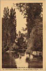 Montigny-sur-Loing - Vue sur le Loing et l'Eglise - Montigny-sur-Loing