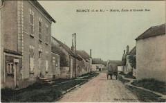 Burcy - Mairie Ecole et Grande Rue - Burcy