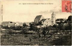 Moussy-le-Vieux - Eglise et Ecole de Moussy-le-Vieux  - Moussy-le-Vieux