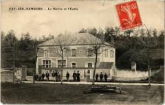 Fay-les-Nemours - La Mairie et l'Ecole  - Faÿ-lès-Nemours