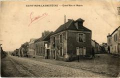 Saint-Nom-La-Breteche - Grand'Rue et Mairie - Saint-Nom-la-Bretèche