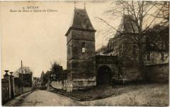 Medan - Route du Haut et Entrée du Chateau - Médan