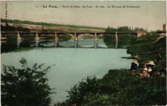 Le Pecq - Bords de Seine - Le Pont-Au loin La Terrasse de - Le Pecq