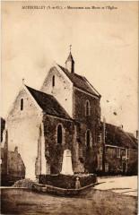 Autouillet - Monument aux Morts et l'Eglise - Autouillet