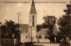 La Hauteville - Eglise et Monument aux Morts de la Guerre - La Hauteville
