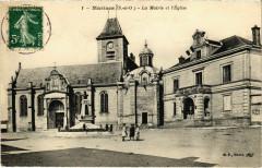 Marines - La Mairie et l'Eglise - Marines
