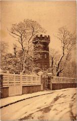Eaubonne - La tour Historique sous la Neige - Eaubonne