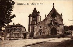 Ecouen - L'Eglise et la Poste - Écouen