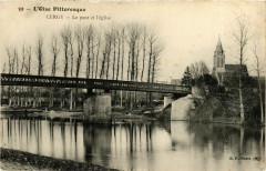 Val-d'Oise Cergy Le pont et l'Eglise - Cergy
