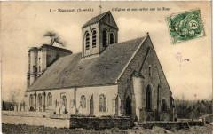 Nucourt (S.-et-O.) - L'Eglise et son arbre sur la Tour - Nucourt
