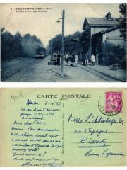 Nesles-la-Vallee La Gare et l'arrivee du train - Nesles-la-Vallée