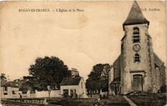 Roissy-en-France - L'Eglise et la Place - Roissy-en-France