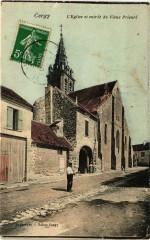 Cergy  - L'Eglise et entrée du Vieux Prieuré - Cergy