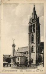 Vitry-sur-Seine - eglise et monument aux morts - Vitry-sur-Seine
