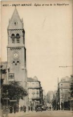 Saint-Mande - Eglise et rue de la republique 94 Saint-Mandé