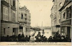 Inondations 1910 Villeneuve-Saint-Georges Avenue de l'Hotel de Ville 94 Villeneuve-Saint-Georges