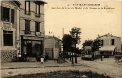 Fontenay sous Bois Carrefour de la rue du Moulin. 94 Fontenay-sous-Bois