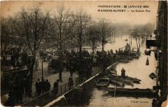 Inondations - 29 Janvier 1910 Maisons-Alfort - La Grande Rue 94 Maisons-Alfort