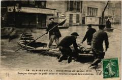 Alfortville - Barque chargee de pain pour 94 Alfortville