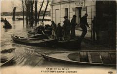 Villeneuve Saint Georges - Crue de la Seine 94 Villeneuve-Saint-Georges