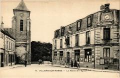 Villiers sur Marne - La Mairie et l'Eglise 94 Villiers-sur-Marne