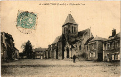 Saint-Vrain - L'Eglise et la Place - Saint-Vrain