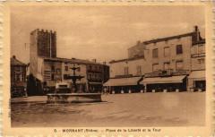 Mornant - Place de la Liberté et la Tour - Mornant