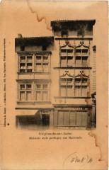Villefranche-sur-Saone - Maisons Style Gothique rue Nationale - Villefranche-sur-Saône