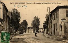 Venissieux - Avenue de la Republique et Rue Carnot 69 Vénissieux