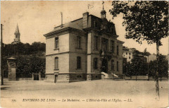 La Mulatiere - L'Hotel-de-Ville et Eglise - Env. de Lyon - La Mulatière