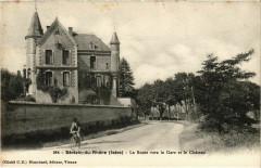 Serezin-du-Rhone - La Route vers la Gare et le Chateau - Sérézin-du-Rhône