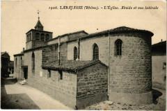 Larajasse - L'Eglise - Abside et Vue Laterale - Larajasse
