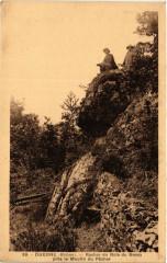 Duerne - Rocher du Bois du Bessy pres le Moulin du Pecher 69 Duerne