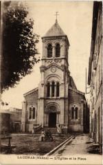 Lacenas - L'Eglise et la Place - Lacenas