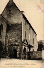 Chalain-d'Uzore - Entree de l'Eglise et le Chateau France - Chalain-d'Uzore