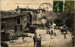 Saint-Paul-en-Cornillon - La Place et l'Eglise - Saint-Paul-en-Cornillon